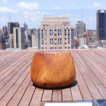 Turned Wooden Solid Stool 2a
