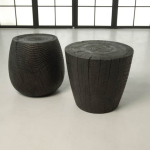 Turned Wooden Solid Stool 2b